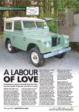 Land Rover Magazine August 2007 - A Labour of Love