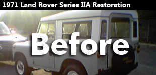 1971 Land Rover Series IIA Restoration Gallery - Before