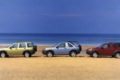 Land Rover Freelander V6 Left to right:- 5 door Station Wagon, 3 door softback, 3 door hardback
