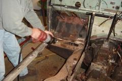 Land-Rover-Series-IIA-Day-6-Dash-wiring-Bulkhead-Removal-020